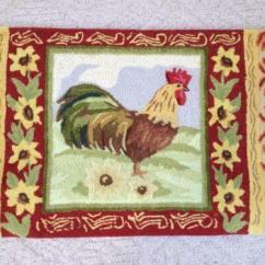 Rooster Rugs For Kitchen Cabinet Door Hardware Rug | Ebay