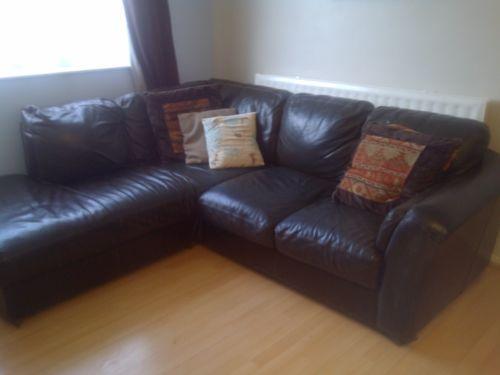 ebay uk leather corner sofa bed cloud magnet dfs brown |