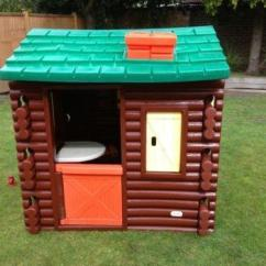 Childrens Play Kitchen Fall Curtains Little Tikes Log Cabin | Ebay