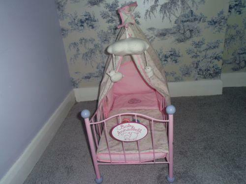 high chair for dolls chairs on sale baby annabell cot | ebay