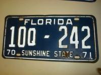 License Plate Florida Antique