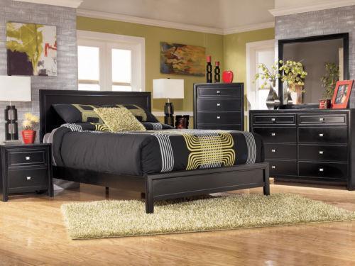Black King Bedroom Furniture Set  eBay