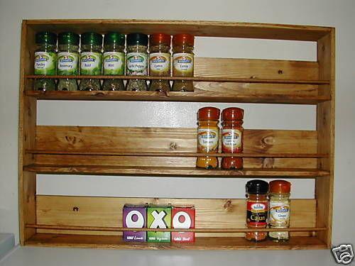 revolving spice racks for kitchen small outdoor ideas wooden rack | ebay