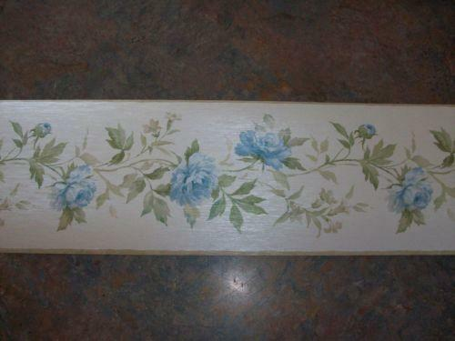 Blue Flower Wallpaper Border  eBay