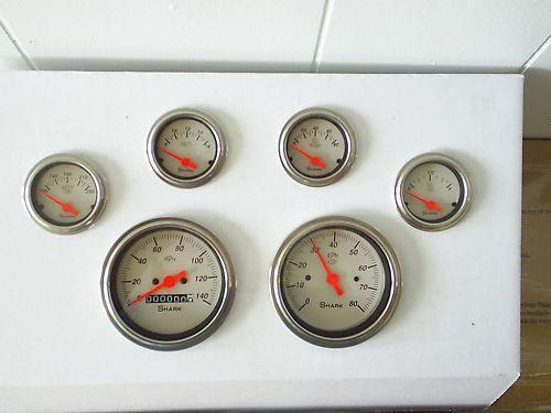 street rod wiring diagram 66 mustang shark gauges | ebay