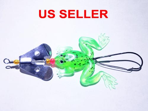USA Lot PCS Fishing Lures CrankBaits Hooks Baits Tackle Spinner frog shrimp Box 6