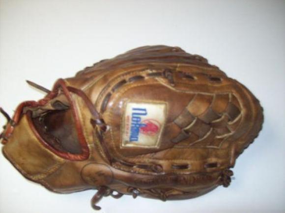 Nokona baseball glove from thrift store
