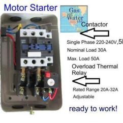 Contactor And Overload Wiring Diagram Whirlpool Gas Water Heater 5 Hp Magnetic Starter | Ebay