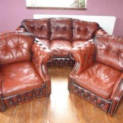 Recliner Sofa Set 3 2 1 Arhaus Craigslist Leather Chesterfield Suite | Ebay