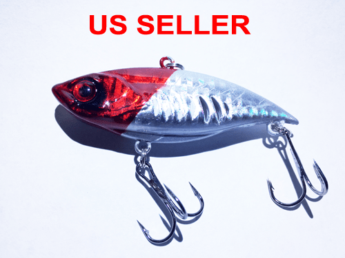 USA Lot PCS Fishing Lures CrankBaits Hooks Baits Tackle Spinner frog shrimp Box 8