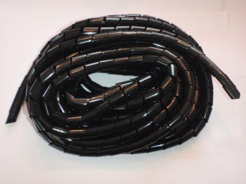 Spiral Wrap Black Wiring Loom Harness Cable Wire Binding Tie Ebay