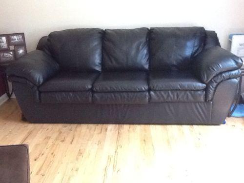 black leather sofa kivik canada couch sofas loveseats chaises ebay