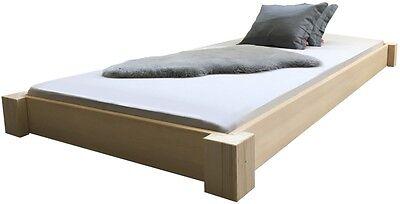 Bodentiefes Massivholzbett Bett Holz Holzbett Designbett Bettgestell aus BRD