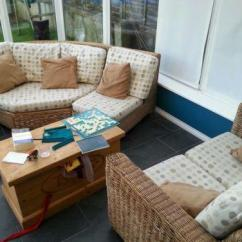 Cane Sofa Set Pictures Kennedy Fabric Bed Conservatory Furniture | Ebay