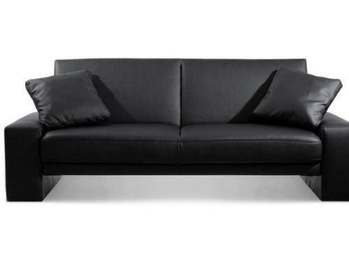 ebay uk leather corner sofa bed black swivel chair 2 seater | seating & beds