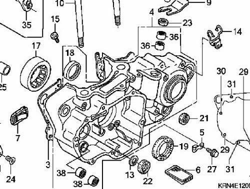 2008 crf150r engine diagram