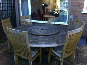 outdoor table and chairs wood frank gehry cardboard garden ebay used