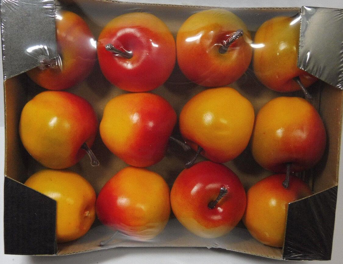12 Deko Äpfel 5,5cm Cox künstliche Früchte Obst Apfel Obstschale Erntedank
