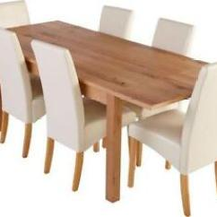 High Top Table With 6 Chairs Kids Bean Bag Ikea Dining And Furniture Ebay Cream