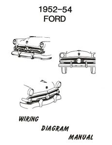 FORD-1952-1953-1954-Car-Wiring-Diagram-Manual