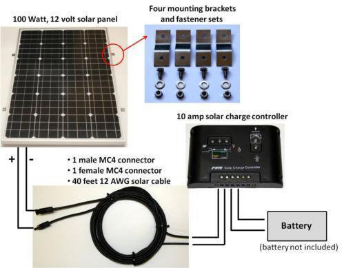 100 Fuse Box Diagram 100w Solar Panel Kit Ebay