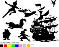 Peter Pan Wall Decal Shadow - Elitflat