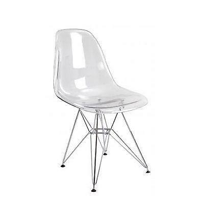 plastic see through chair baby camping clear ebay