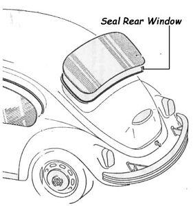 VW Rear Window Seal for T1 Beetle Cal Look Bug 1200-1600