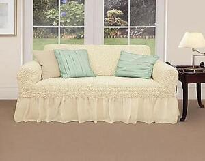 fitted chair covers ebay cowhide uk arm stretch