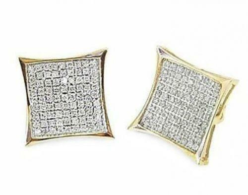 Mens Yellow Diamond Earrings