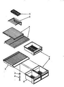 kenmore 106 refrigerator parts diagram white house ebay