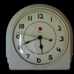Retro Kitchen Wall Clock White Backsplash Tile Vintage Art Deco   Ebay