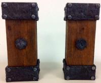 Wooden Pillar Candle Holders   eBay
