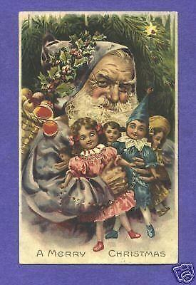 Hold To Light Santa Postcard EBay