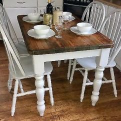 Refurbished Kitchen Table Free Standing Islands With Seating Farmhouse Country Style Dining And Chairs In Farrow Ball Paint Delivery