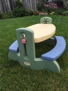little tikes adjustable table and chairs coleman camp picnic | kijiji: free classifieds in ontario. find a job, buy car, ...