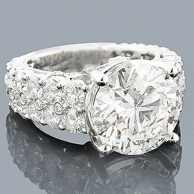 Platinum Engagement Rings Expensive Diamond Ring 857  eBay