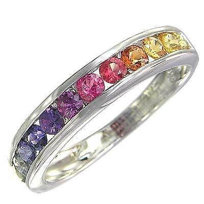 Rainbow Sapphire Ring EBay