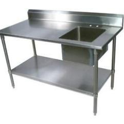 Steel Kitchen Table Design Ideas For Small Kitchens Stainless Ebay With Sinks