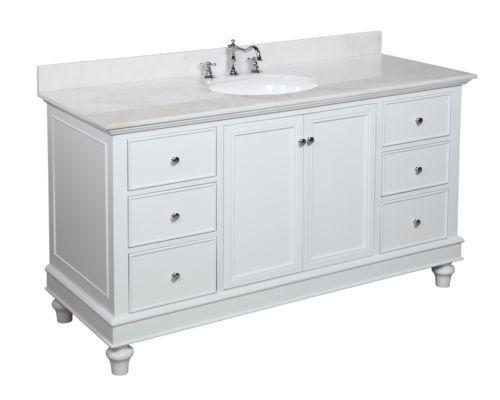 White Marble Bathroom Vanity  eBay