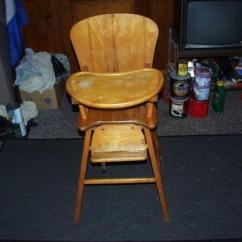 Vintage Wood High Chair Beach Patio Cushions Ebay Chairs