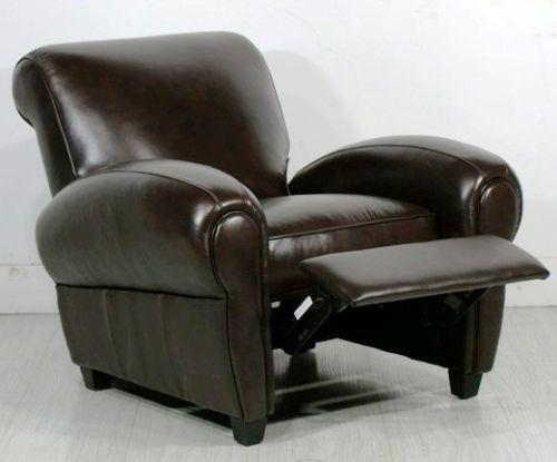 Leather Club Chair Recliner  eBay