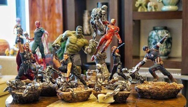 Avengers 16 Diorama Inc Iron Studios and Sideshow Hot