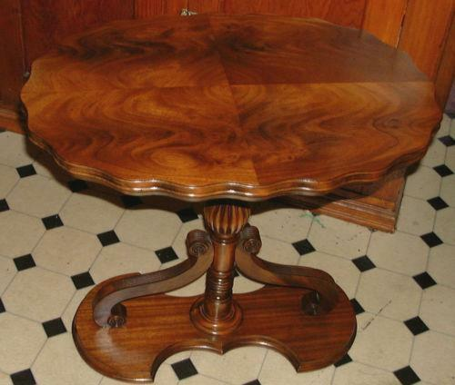 Antique Pedestal Table EBay