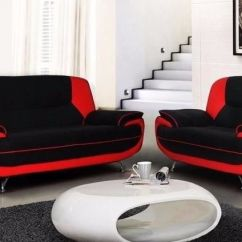 Black And Red Leather Sofa Good Beds Canada Brand New 3 2 Seater Carol Suite Corner Settee Brown