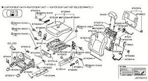 03 04 Infiniti FX35 FX45 Driver Seat Motor Adjuster