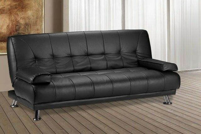 sofa bed next day delivery london leather brown brand new venice 3 seater luxury quality and comfort sofabed