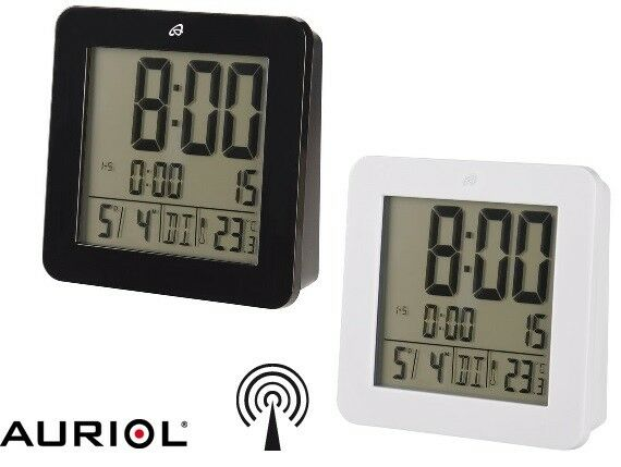 LCD Funkwecker Reisewecker Auriol (Digitech) LED Umgebungstemperatur Kalender