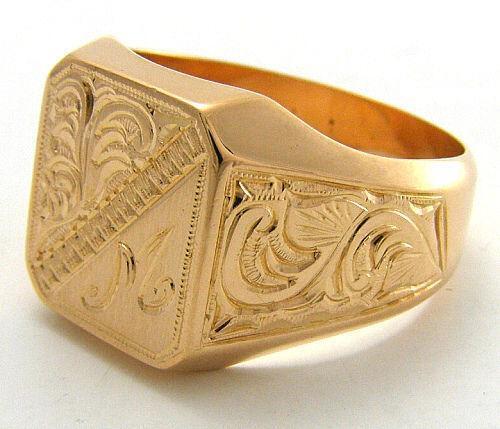 Massiver Goldring Uhren  Schmuck  eBay