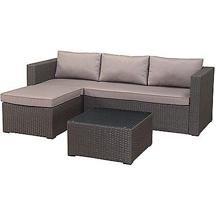 Rattan Corner Sofa Set Homebase